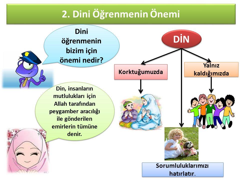 2. Dini Öğrenmenin Önemi Dini öğrenmenin bizim için önemi nedir.