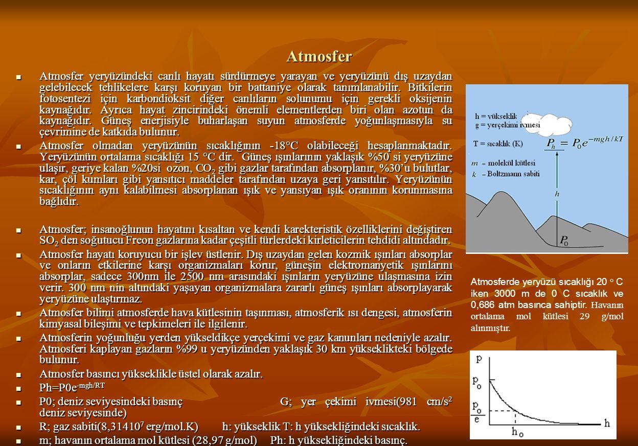 Atmosfer Atmosfer yeryüzündeki canlı hayatı sürdürmeye yarayan ve yeryüzünü dış uzaydan gelebilecek tehlikelere karşı koruyan bir battaniye olarak tanımlanabilir.