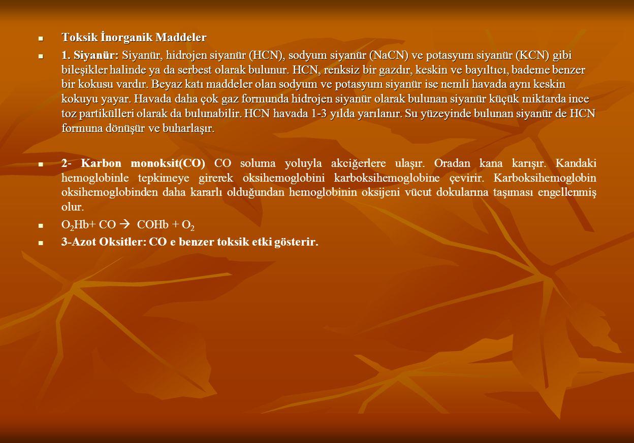 Toksik İnorganik Maddeler Toksik İnorganik Maddeler 1.