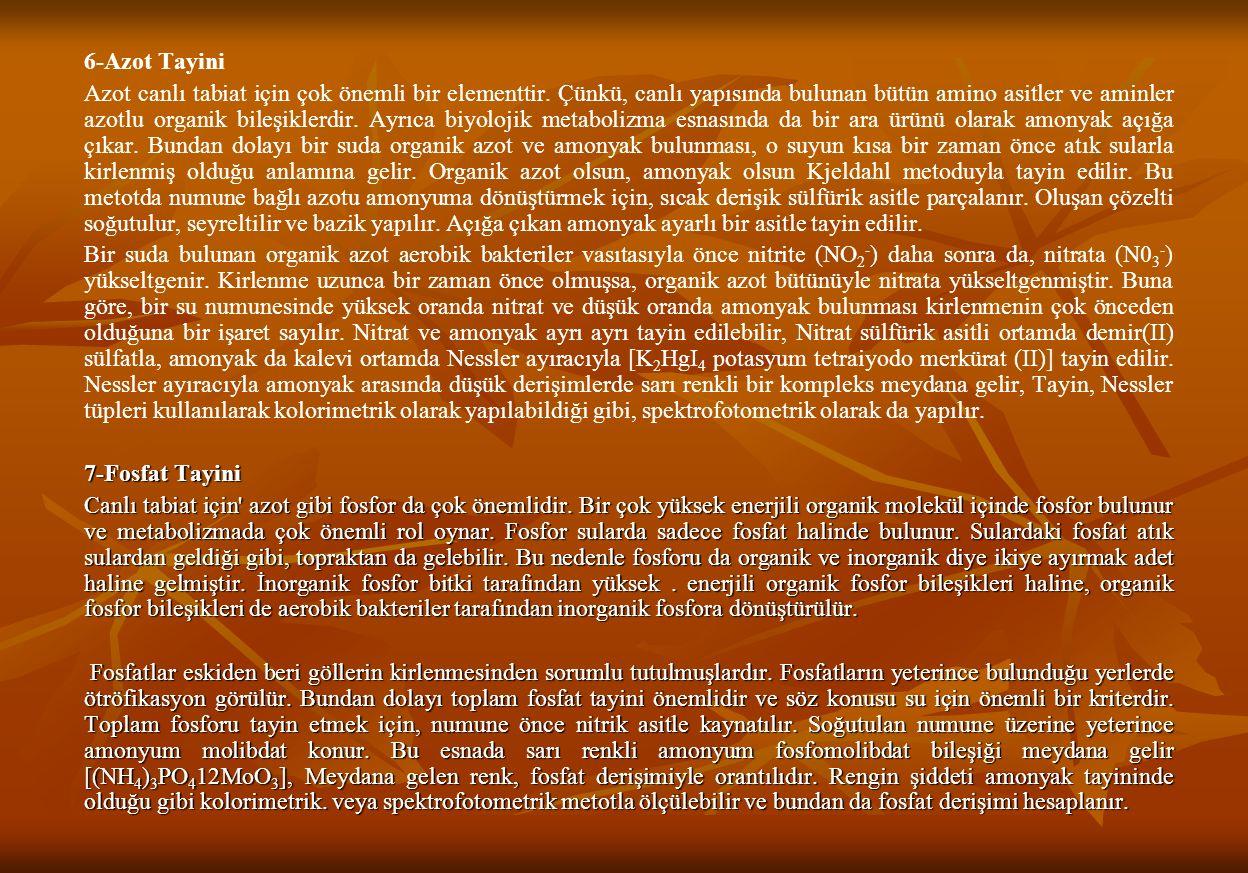 6-Azot Tayini Azot canlı tabiat için çok önemli bir elementtir.