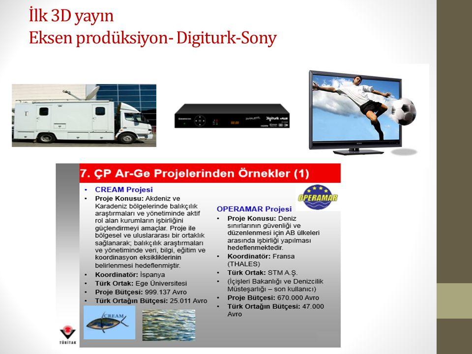 İlk 3D yayın Eksen prodüksiyon- Digiturk-Sony
