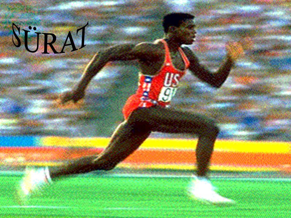 SÜRAT Tanım: Sporda insanın kendisini en yüksek hızla ( en kısa sürede ) bir yerden, başka bir yere hareket ettirebilme yeteneğidir.