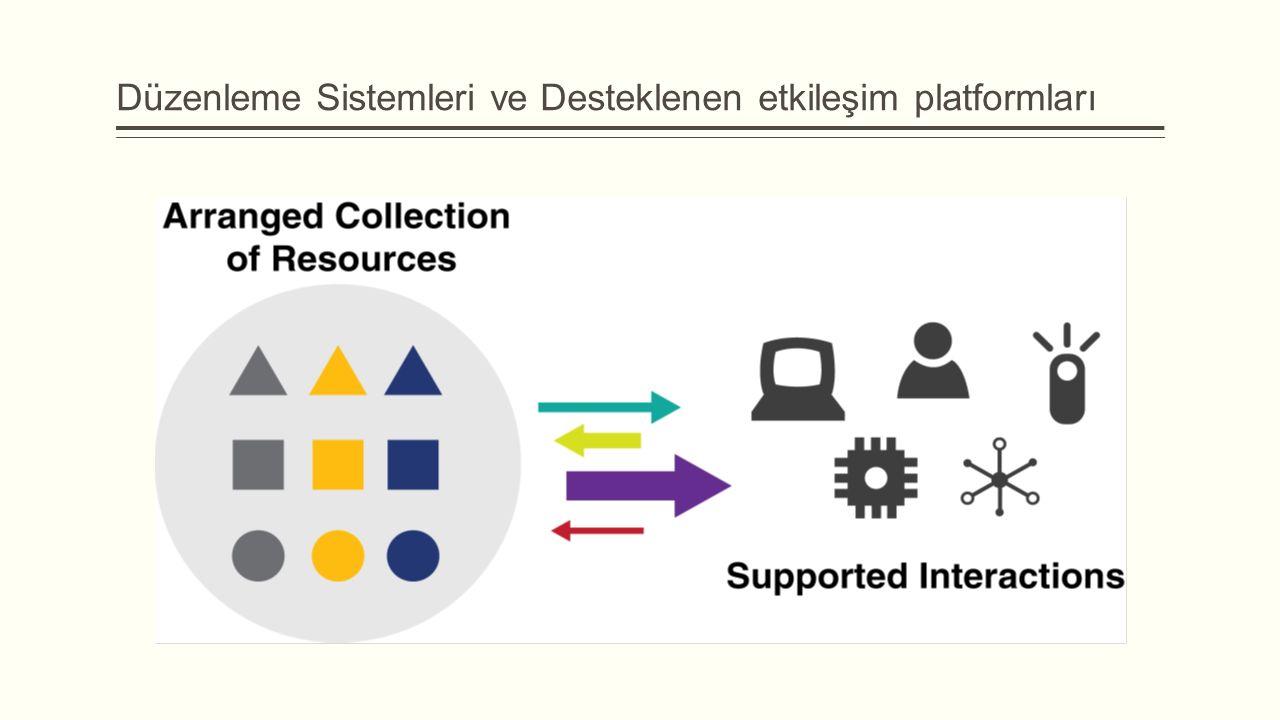 Düzenleme Sistemleri ve Desteklenen etkileşim platformları
