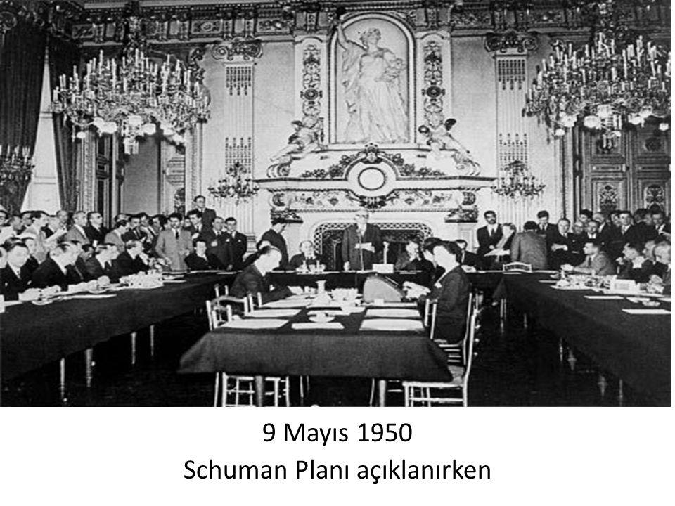 9 Mayıs 1950 Schuman Planı açıklanırken