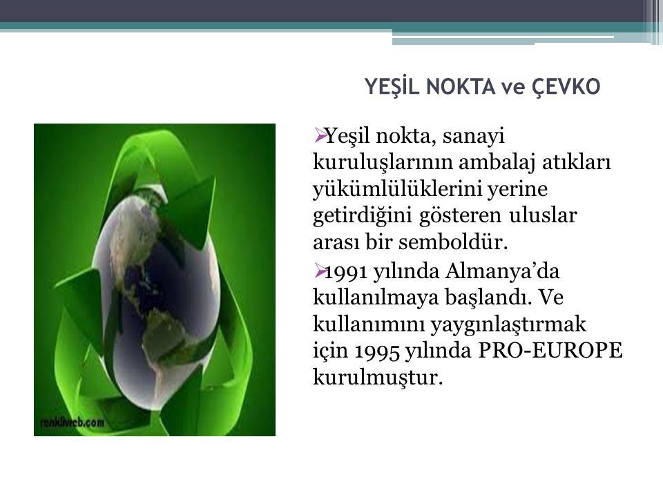  2002 yılında ÇEVKO VAKFI Türkiye'de kullanım hakkını almıştır.31 ülkede, 170.000'den fazla kuruluşla, 460 milyar ambalaj üzerinde, 300 milyon tüketiciye ulaşmaktadır.