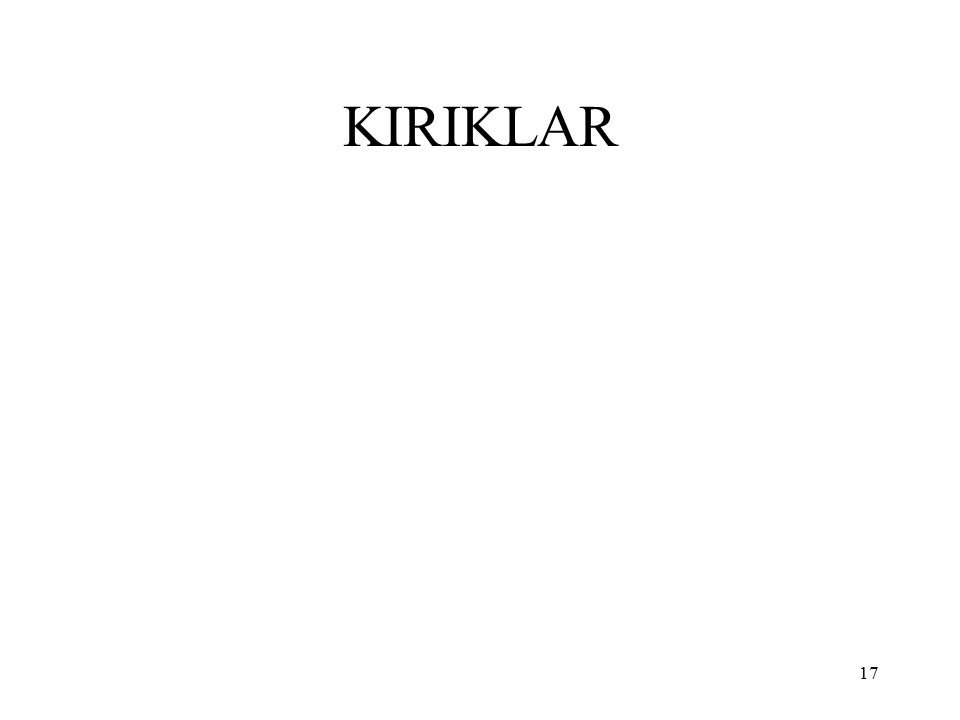 17 KIRIKLAR