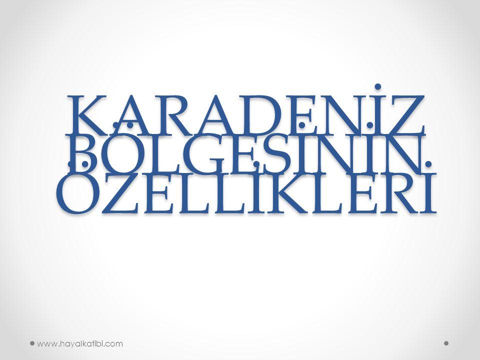 KARADENİZ BÖLGESİNİN ÖZELLİKLERİ www.hayalkatibi.com