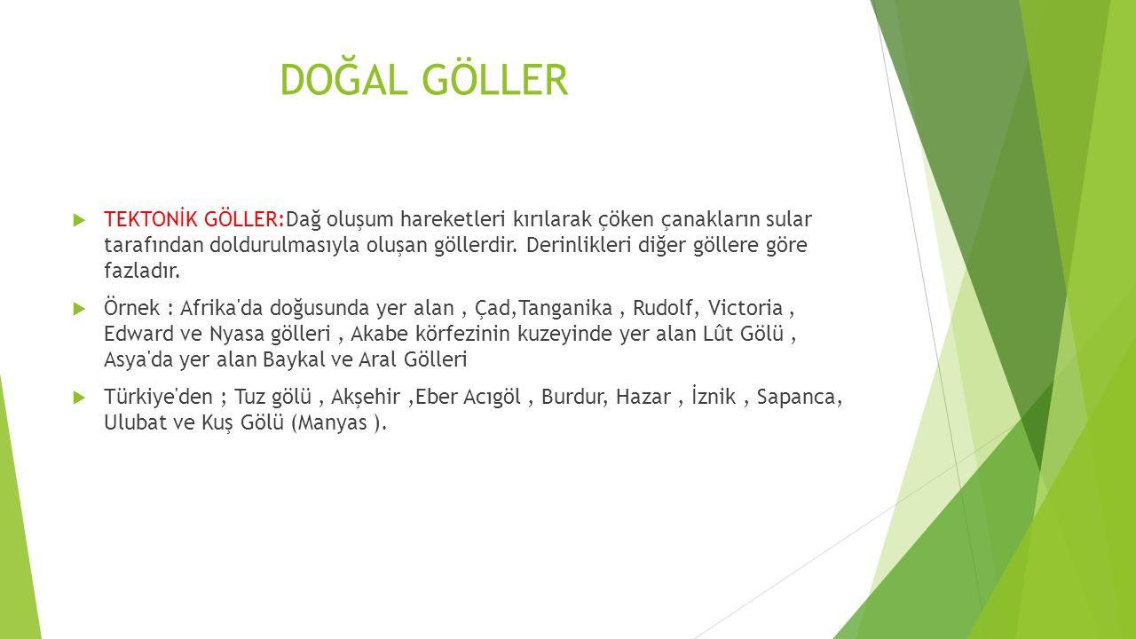 BESLENME REJİMLİ AKARSULAR  Yağmur ve Kaynak Sularıyla Beslenen Akarsular: Türkiye de kaynak sularıyla beslenen akarsular, küçük akarsulardır.