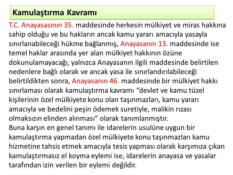 Hukuki El Atma Yargıtay'ın bu içtihadı ile Türkiye'de imar ve gayrimenkul hukukunda, imar planları ve uygulamalarında, kamulaştırma ödeneklerinde, bütçede yeni bir dönem başlamıştır.
