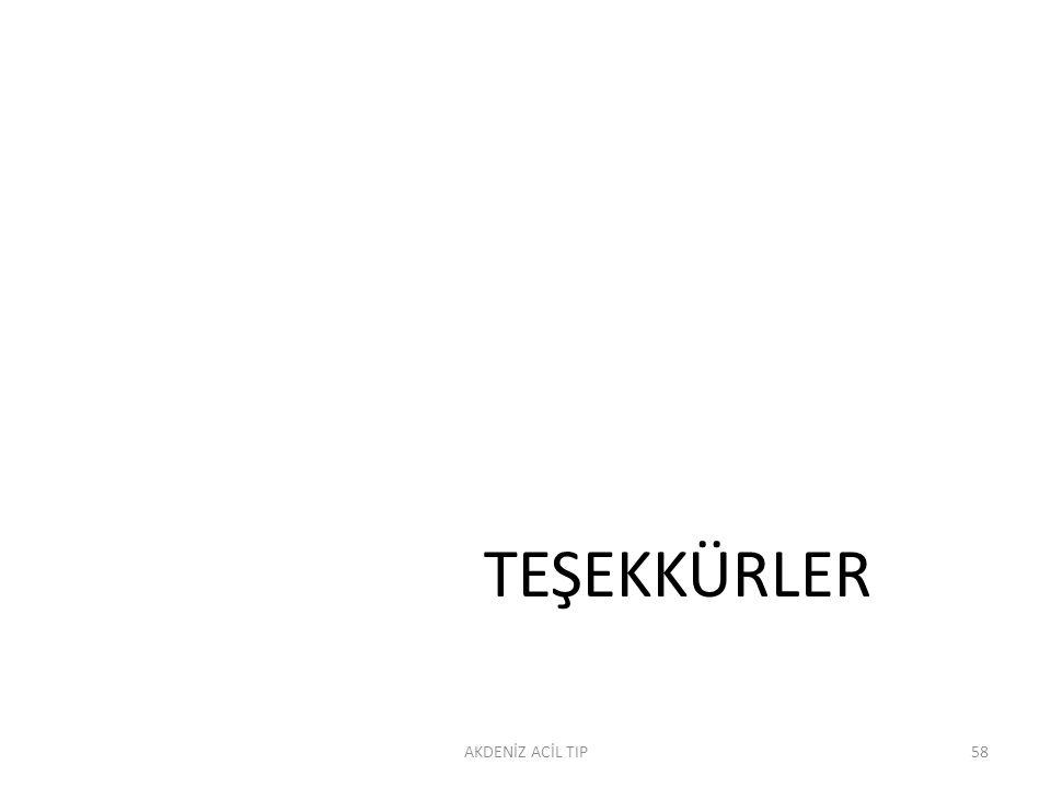 TEŞEKKÜRLER AKDENİZ ACİL TIP58