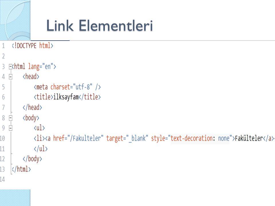 Link Elementleri