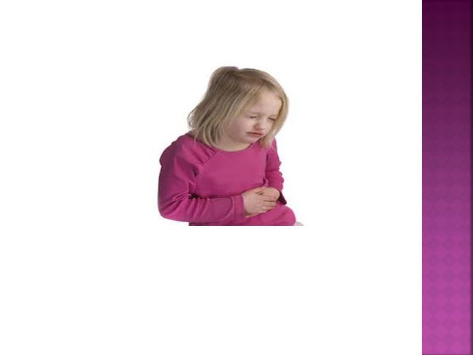  Ağrıdan bir süre sonra olan kusmada ise intestinal obstrüksiyon ve akut apandisit,  Ağrı ile birlikte kusma, gaz- gaita çıkaramama durumunda ise ileus,  Adet gören bir kız çocuğunda karın ağrısının olması; mittelschmerzi, over kisti torsiyonu yada rüptürünü,