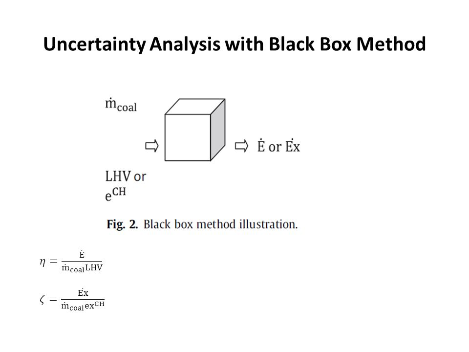 Uncertainty Analysis with Black Box Method