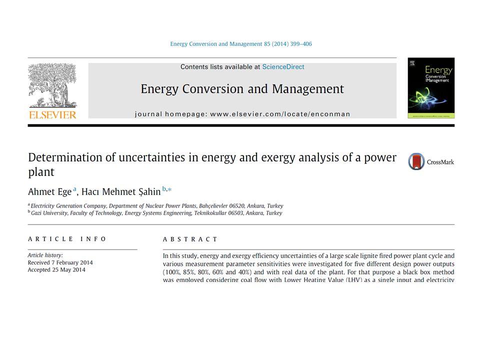 Uncertainties in energy and exergy analysis