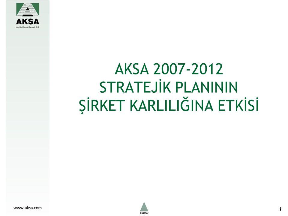 AKSA 2007-2012 STRATEJİK PLANININ ŞİRKET KARLILIĞINA ETKİSİ 1