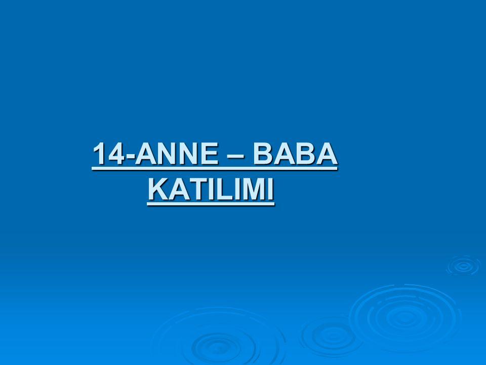 14-ANNE – BABA KATILIMI 14-ANNE – BABA KATILIMI