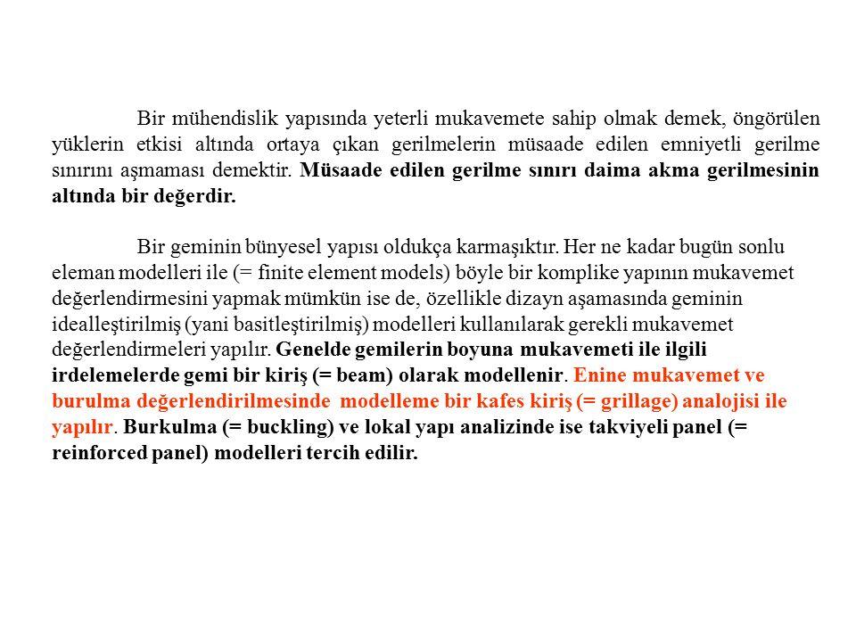 Şekil 8.12 Enine sistemde ana güverte ve gladora güvertesi 1-Üst güverte kaplaması; 2-Kemere; 3-Parampet; 4- Borda kaplaması; 5-Posta; 6-Enine perde; 7- Puntel; 8-Derin güverte altı tulanisi; 9-Mazerna; 10-Gladora güverte kaplaması