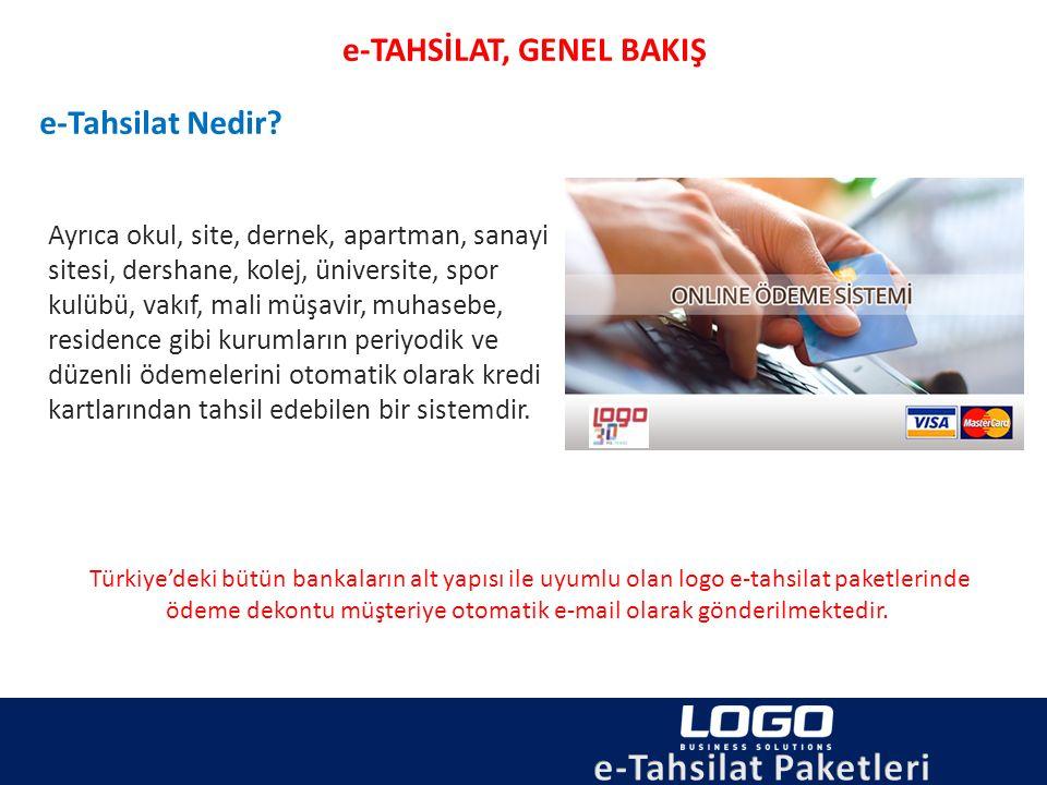 e-Tahsilat Paketlerine Genel Bakış e-Tahsilat Paketi Kullanmak için Neler Yapılmalı.