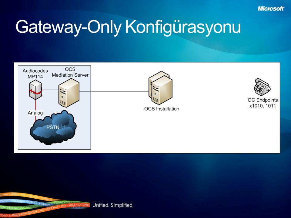 Gateway-Only Konfigürasyonu