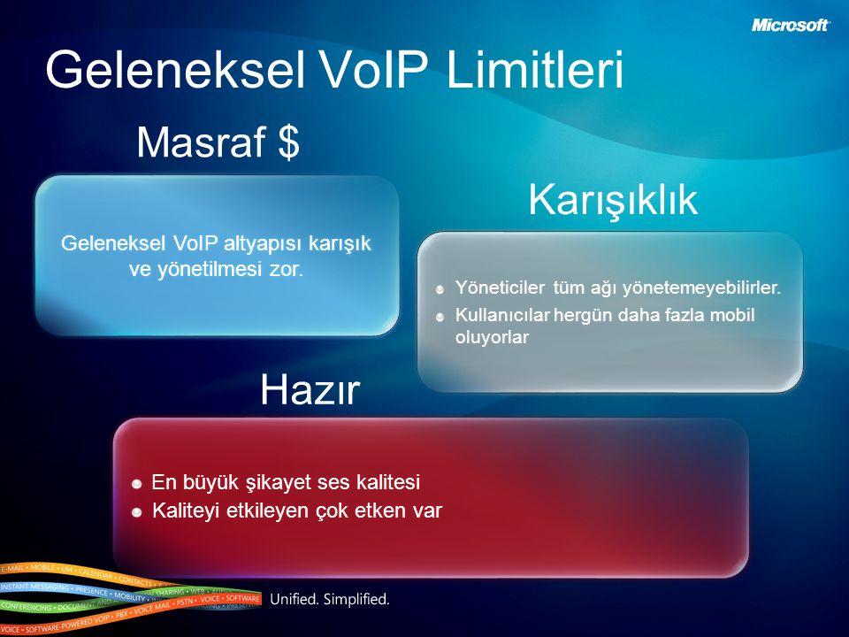 Geleneksel VoIP altyapısı karışık ve yönetilmesi zor. Yöneticiler tüm ağı yönetemeyebilirler. Kullanıcılar hergün daha fazla mobil oluyorlar Yöneticil