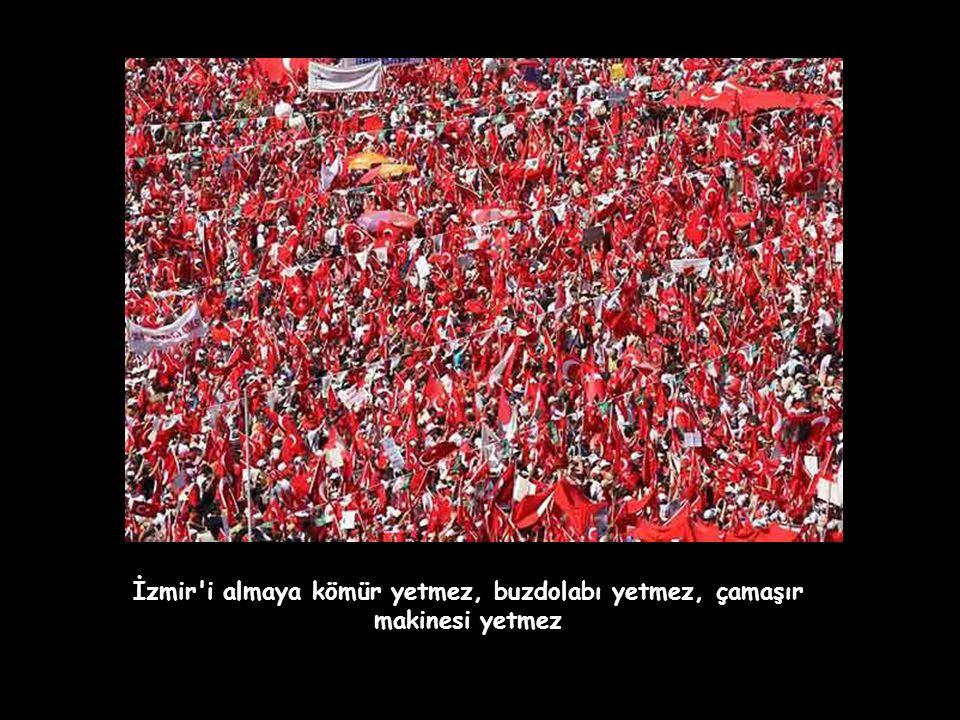 Ege'nin, Akdeniz'in, Trakya'da tüm TÜRKİYE 'de ampuller patlatacağız. Biz Atatürk'ün evlatlarıyız, Ampul'le değil Cumhuriyet'le aydınlanırız.