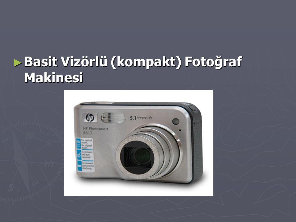 ► Basit Vizörlü (kompakt) Fotoğraf Makinesi