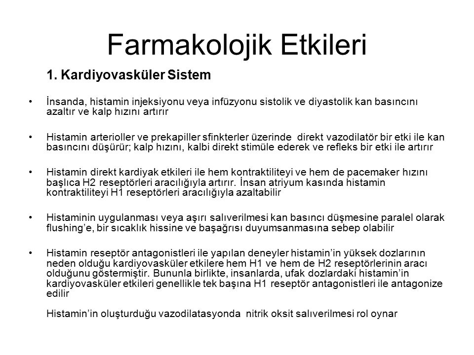 Farmakolojik Etkileri 1.