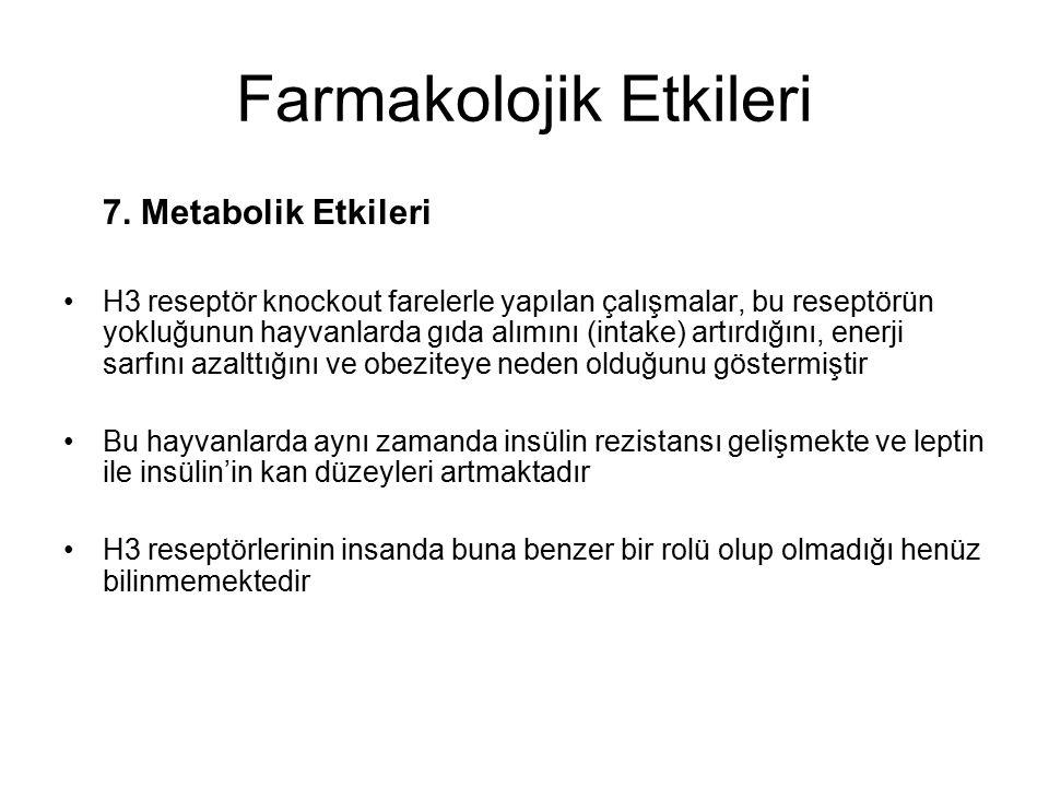Farmakolojik Etkileri 7.