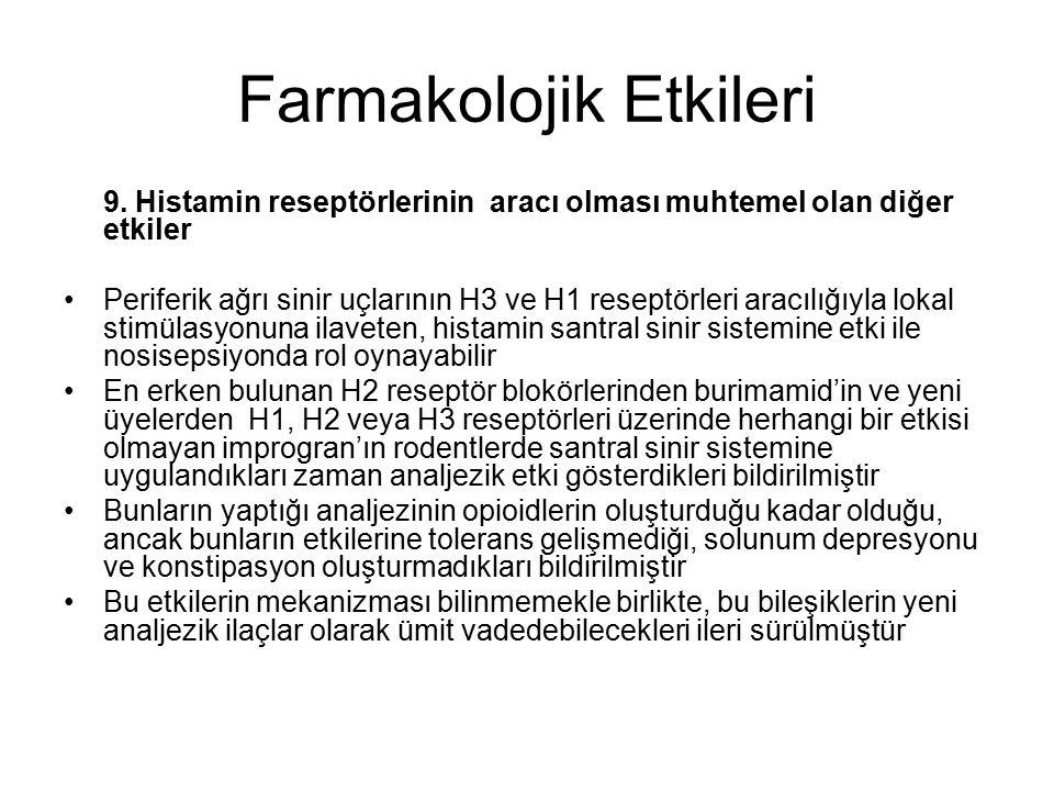Farmakolojik Etkileri 9.