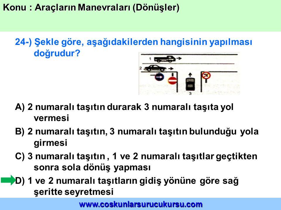 24-) Şekle göre, aşağıdakilerden hangisinin yapılması doğrudur.
