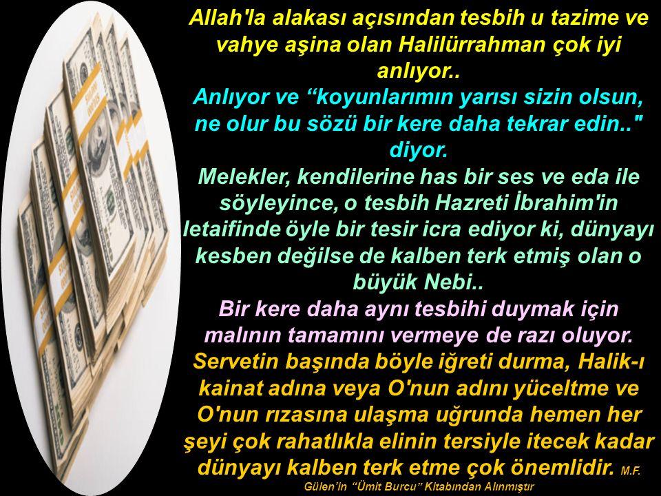 Allah la alakası açısından tesbih u tazime ve vahye aşina olan Halilürrahman çok iyi anlıyor..