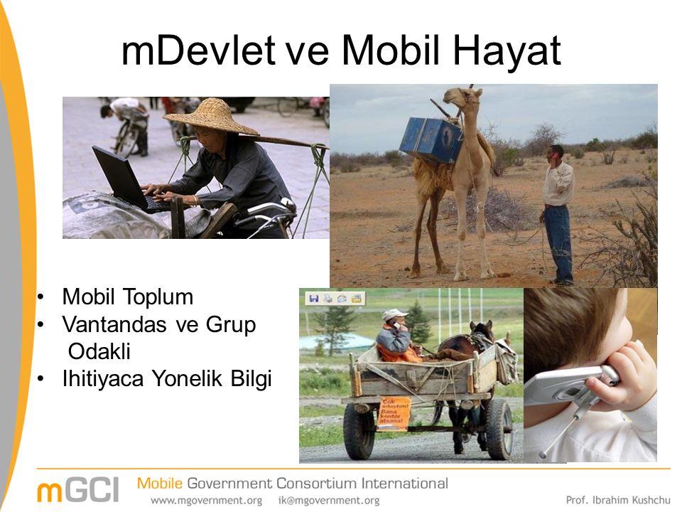 mDevlet ve Mobil Hayat Mobil Toplum Vantandas ve Grup Odakli Ihitiyaca Yonelik Bilgi