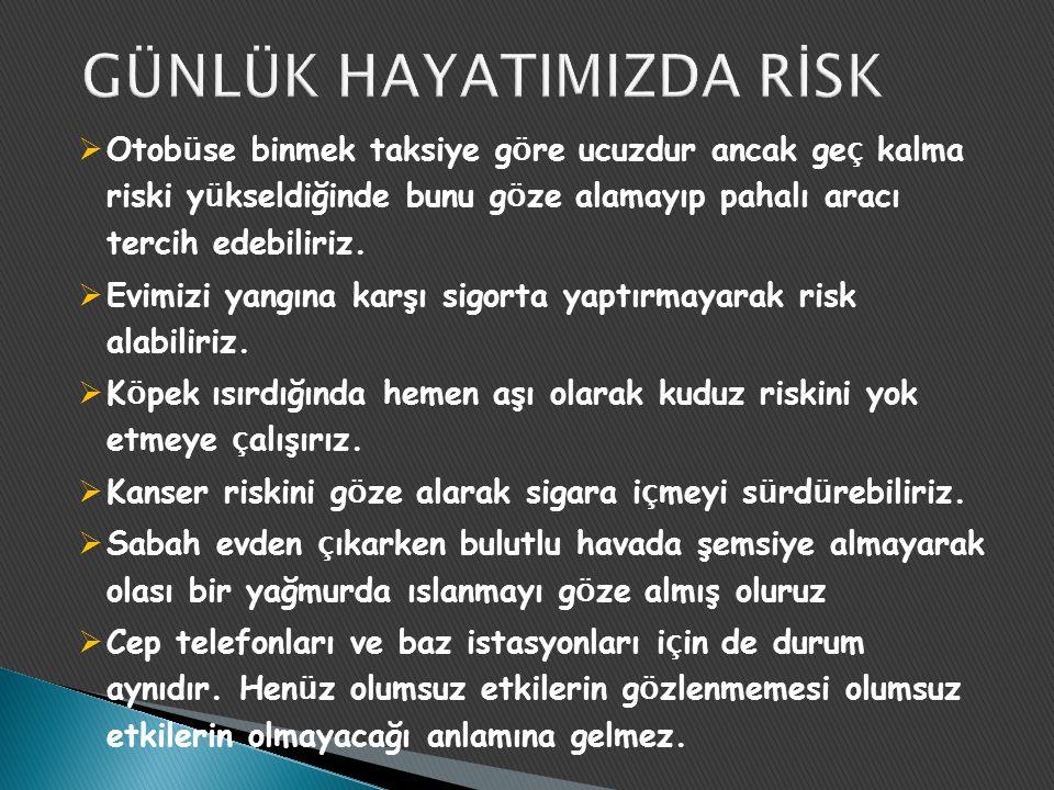  Doğru risklerimi almaktayız. Kritik risklerimiz nelerdir, nasıl biliyoruz.