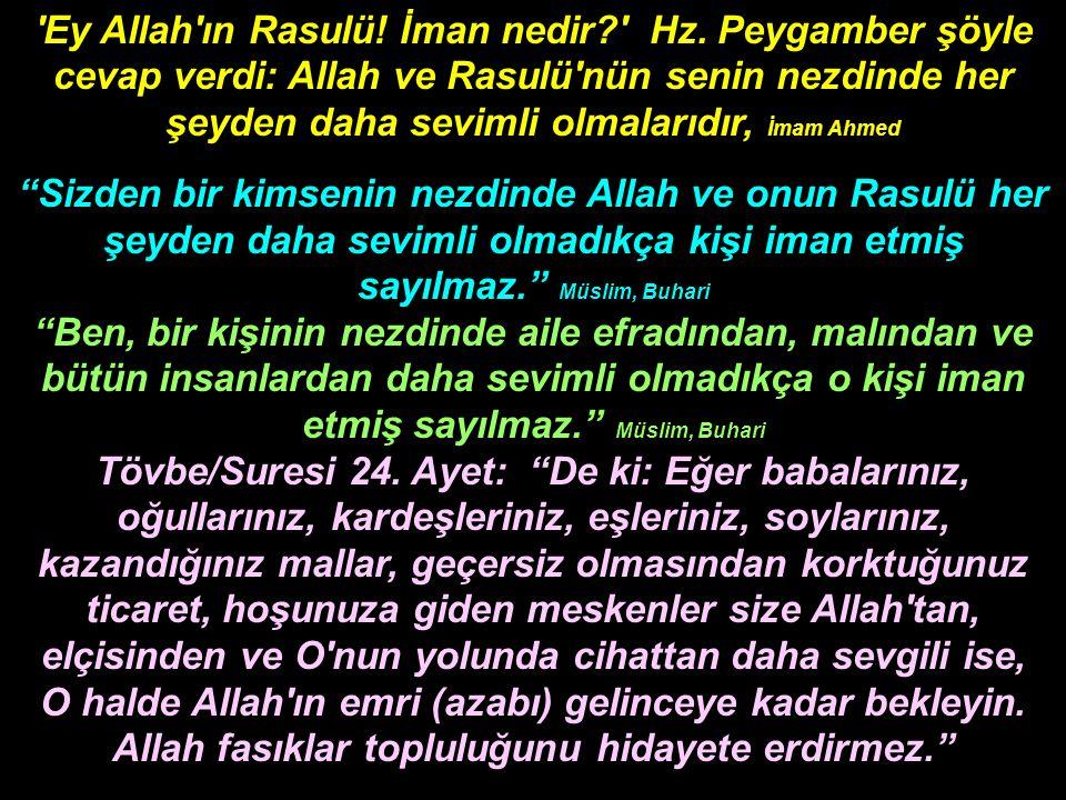 Ebu Hureyre nin (r.a.) naklettiğine göre: Allah Resulü (a.s.) şöyle buyurmuştur: Allah a ve son güne (Ahiret gününe) iman eden, ya hayır söylesin, yahut sussun.