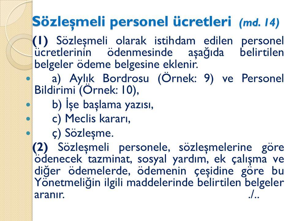 Sözleşmeli personel ücretleri (md.