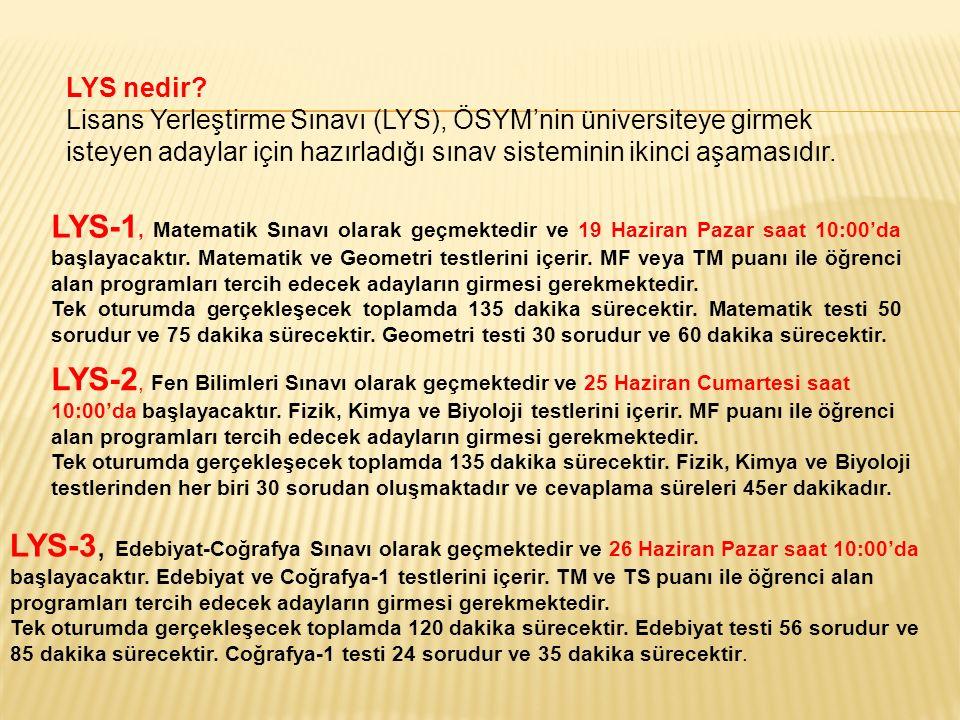 LYS-4, Sosyal Bilimler Sınavı olarak geçmektedir ve 18 Haziran Cumartesi saat 10:00'da başlayacaktır.