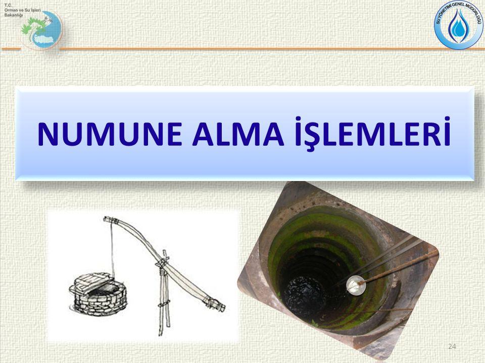 24 NUMUNE ALMA İŞLEMLERİ