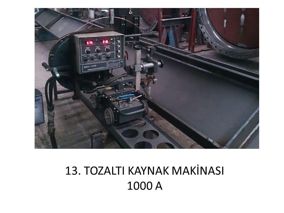 13. TOZALTI KAYNAK MAKİNASI 1000 A