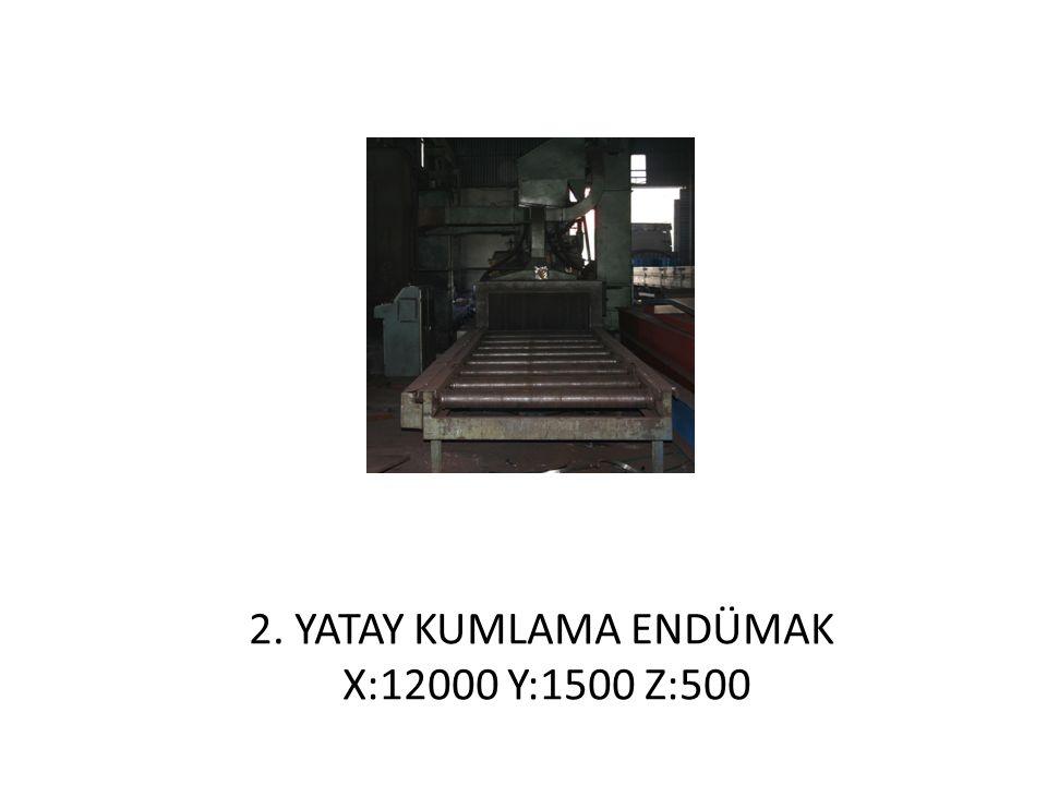 2. YATAY KUMLAMA ENDÜMAK X:12000 Y:1500 Z:500