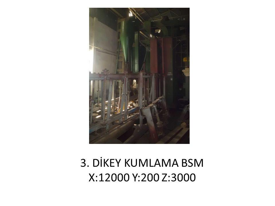 3. DİKEY KUMLAMA BSM X:12000 Y:200 Z:3000