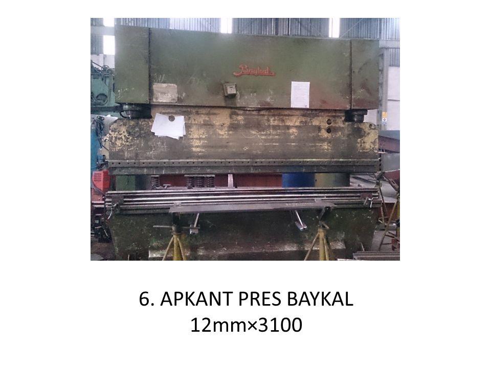 6. APKANT PRES BAYKAL 12mm×3100