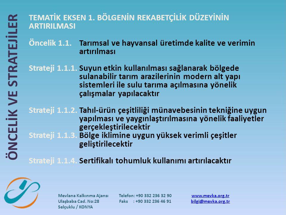Mevlana Kalkınma Ajansı Ulaşbaba Cad.
