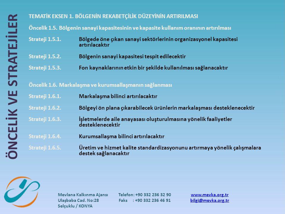 Mevlana Kalkınma Ajansı Ulaşbaba Cad. No:28 Selçuklu / KONYA Telefon: +90 332 236 32 90 Faks : +90 332 236 46 91 www.mevka.org.tr bilgi@mevka.org.tr T