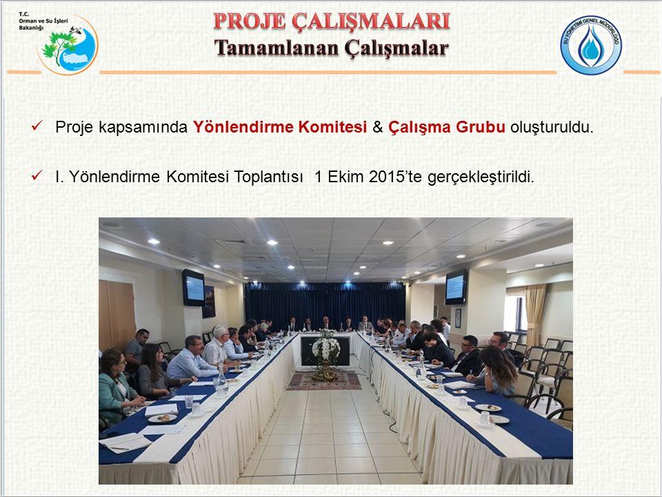 Proje kapsamında Yönlendirme Komitesi & Çalışma Grubu oluşturuldu.