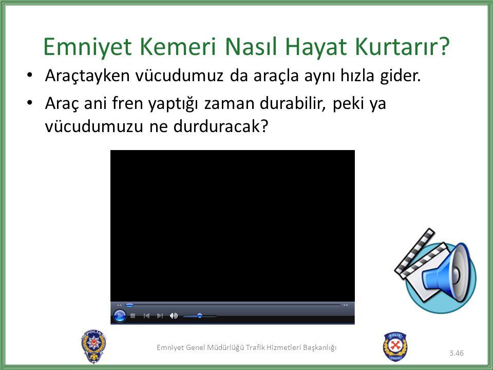 Emniyet Genel Müdürlüğü Trafik Hizmetleri Başkanlığı Emniyet Kemeri Nasıl Hayat Kurtarır.