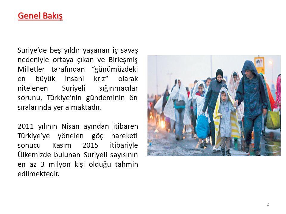 Genel Bakış Her geçen gün Türkiye'de artan Suriyeli nüfusu doğum yoluyla da artmaktadır.