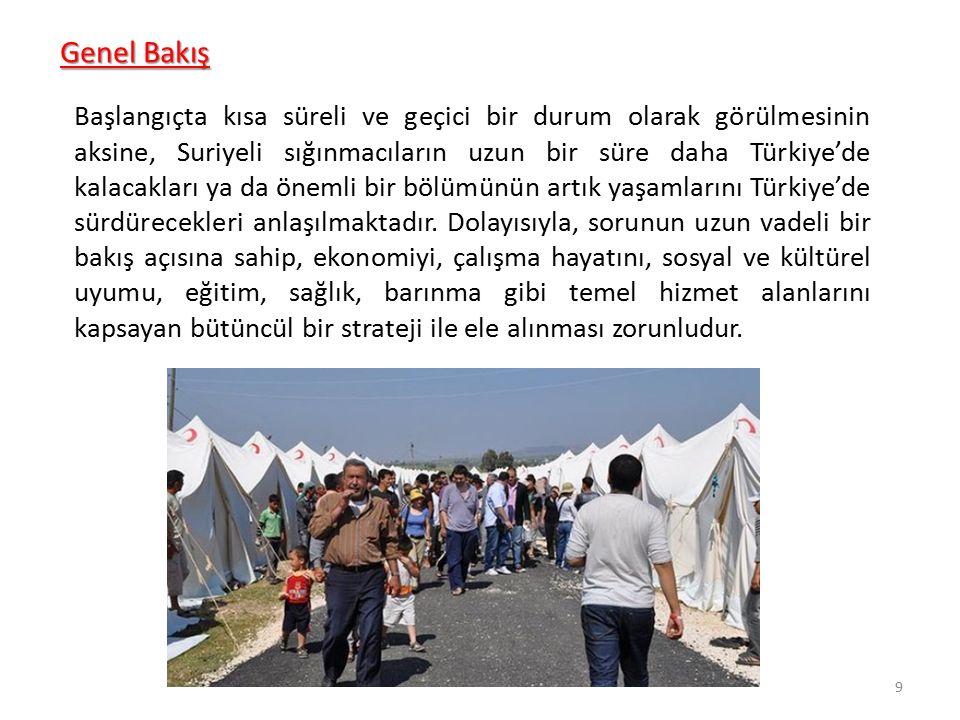 Başlangıçta kısa süreli ve geçici bir durum olarak görülmesinin aksine, Suriyeli sığınmacıların uzun bir süre daha Türkiye'de kalacakları ya da önemli