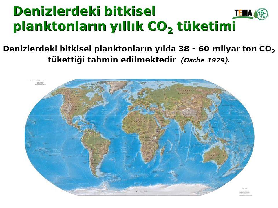 Denizlerdeki bitkisel planktonların yıllık CO 2 tüketimi Denizlerdeki bitkisel planktonların yıllık CO 2 tüketimi Denizlerdeki bitkisel planktonların