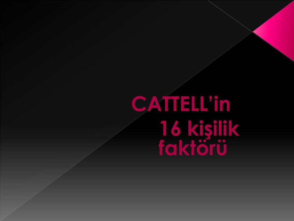CATTELL'in 16 kişilik faktörü