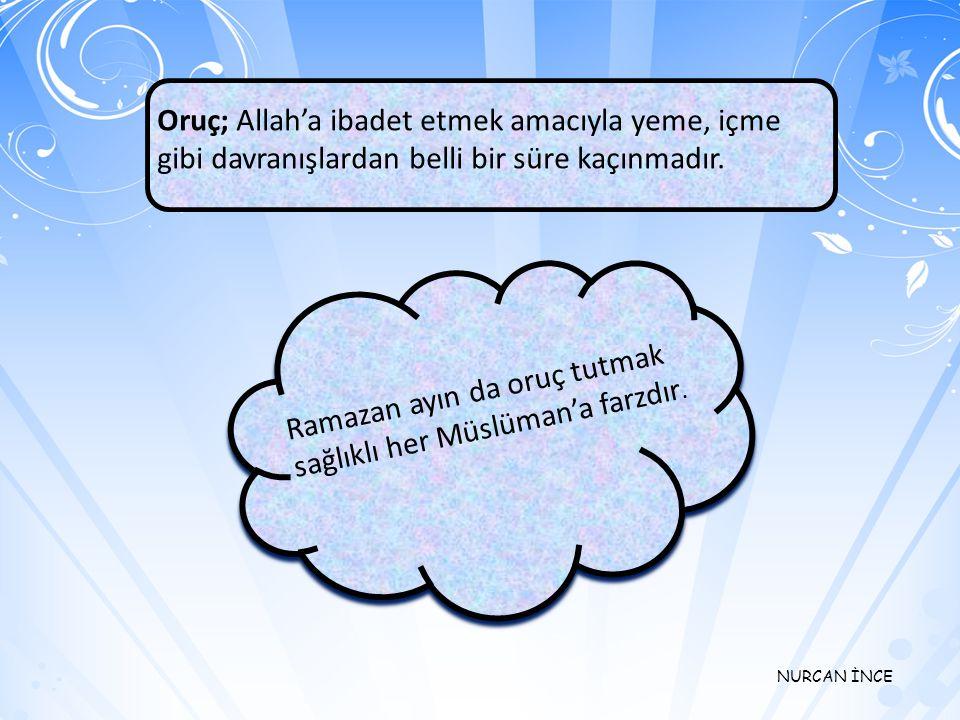 NURCAN İNCE Namaz; İslam'ın şartlarından biridir. Günde beş vakit namaz kılınır Bunların dışında; Cuma namazı,bayram namazları ve teravih namazlarının